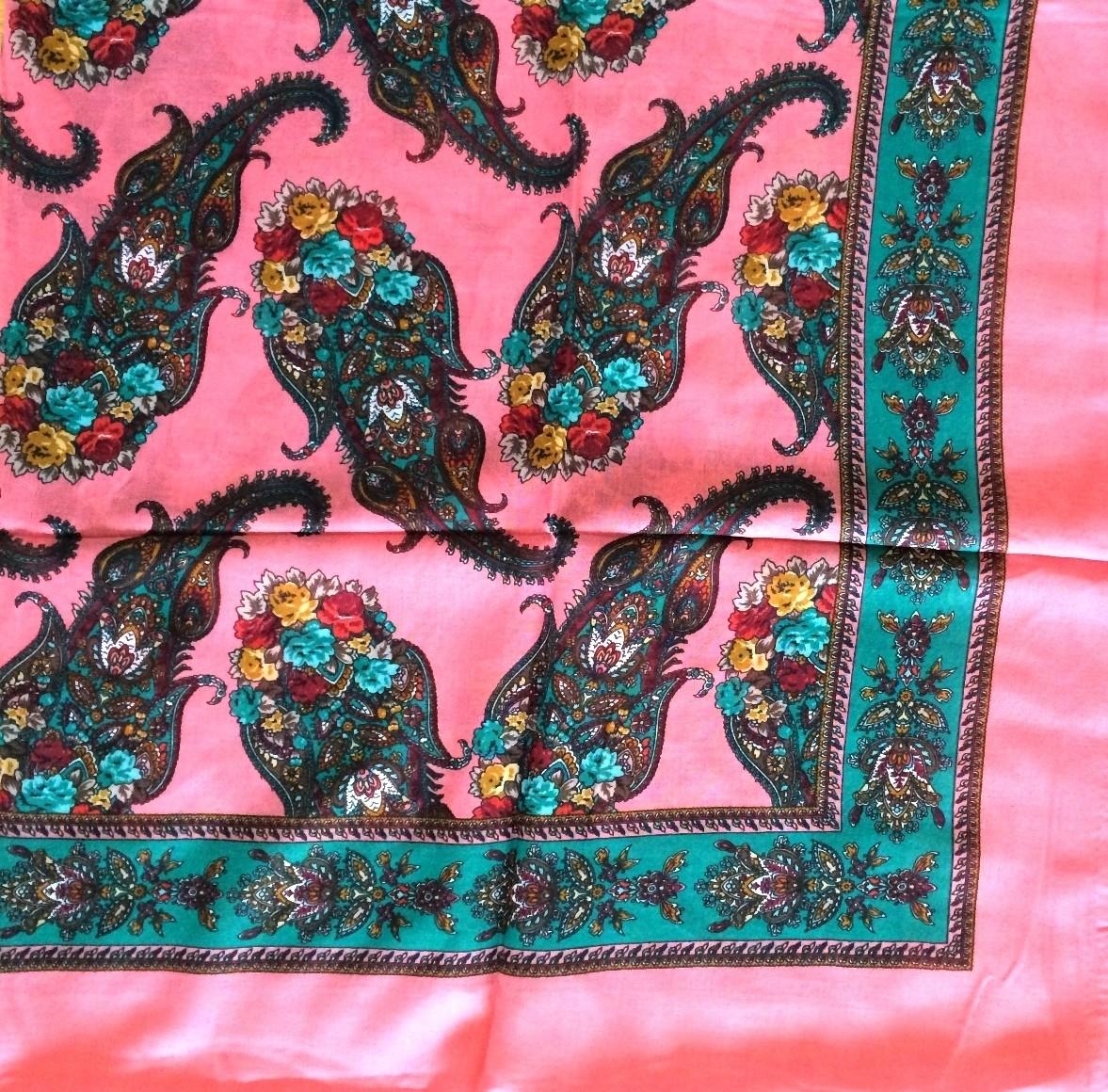 Coral paisley pretty Turkish headscarve