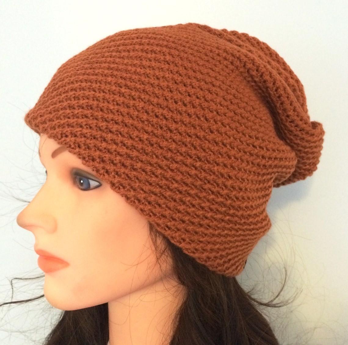 Burnt orange slouchy hat/beret