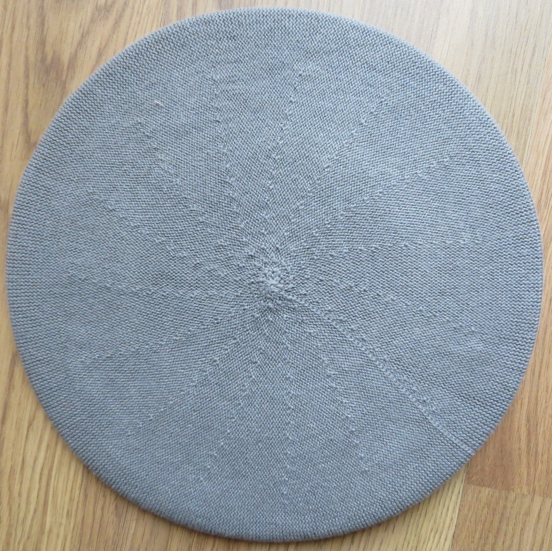 Cotton beret dull light gray medium