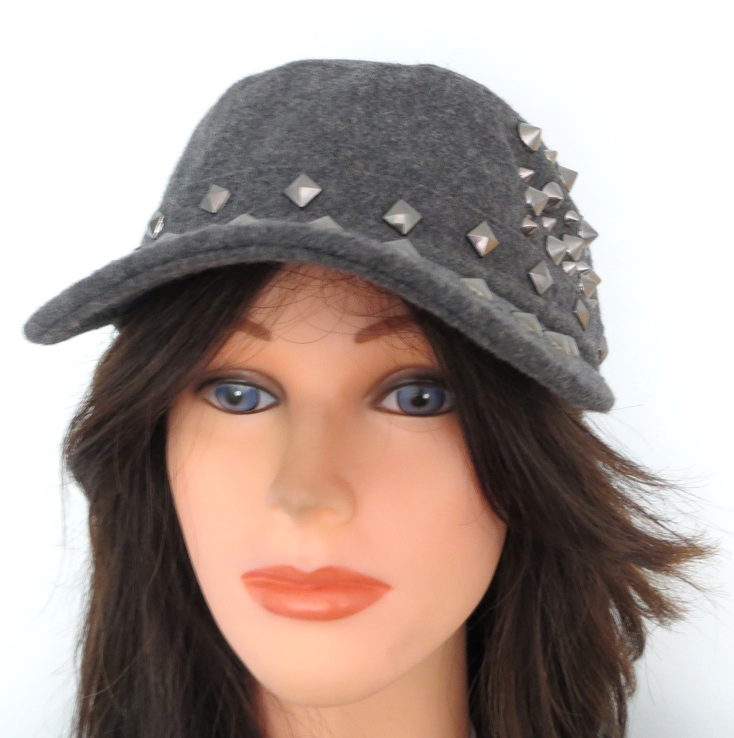 Gray spiked cap
