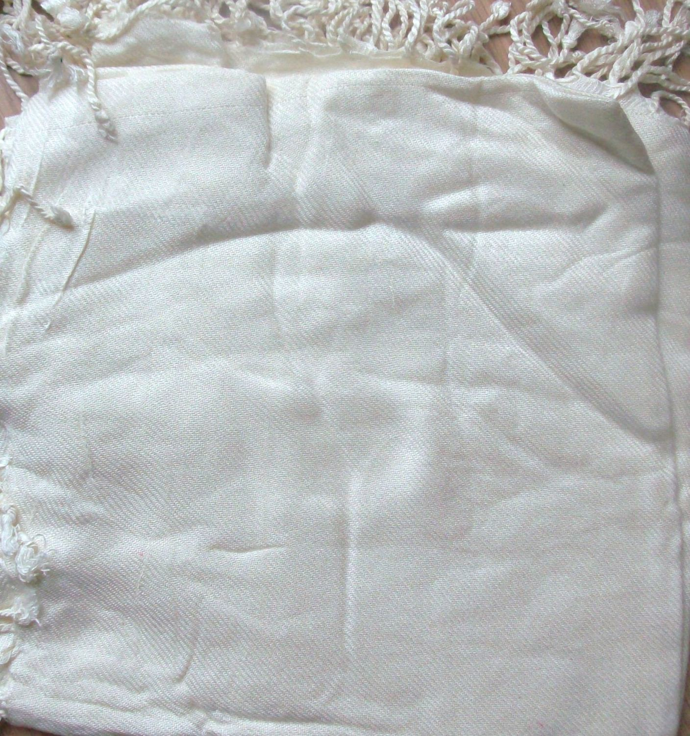Quilted tichel cream