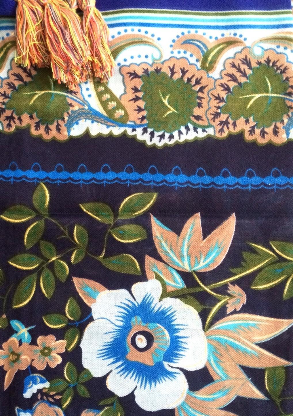 Beautiful blue flowers soft tichel