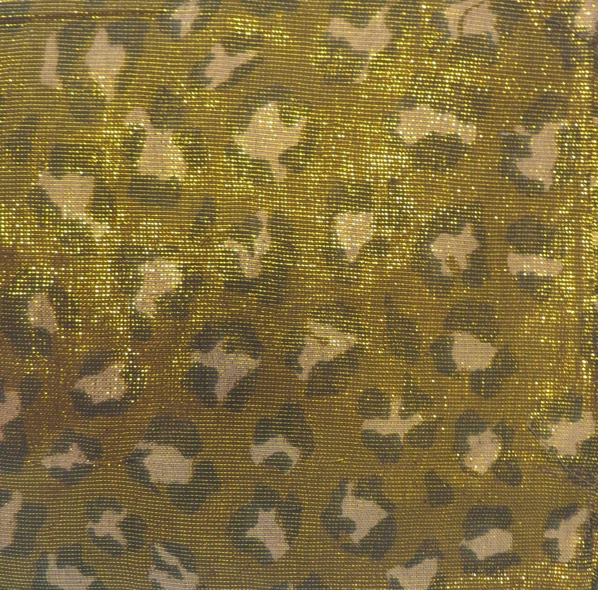 Brown and gold animal print shimmering tichel