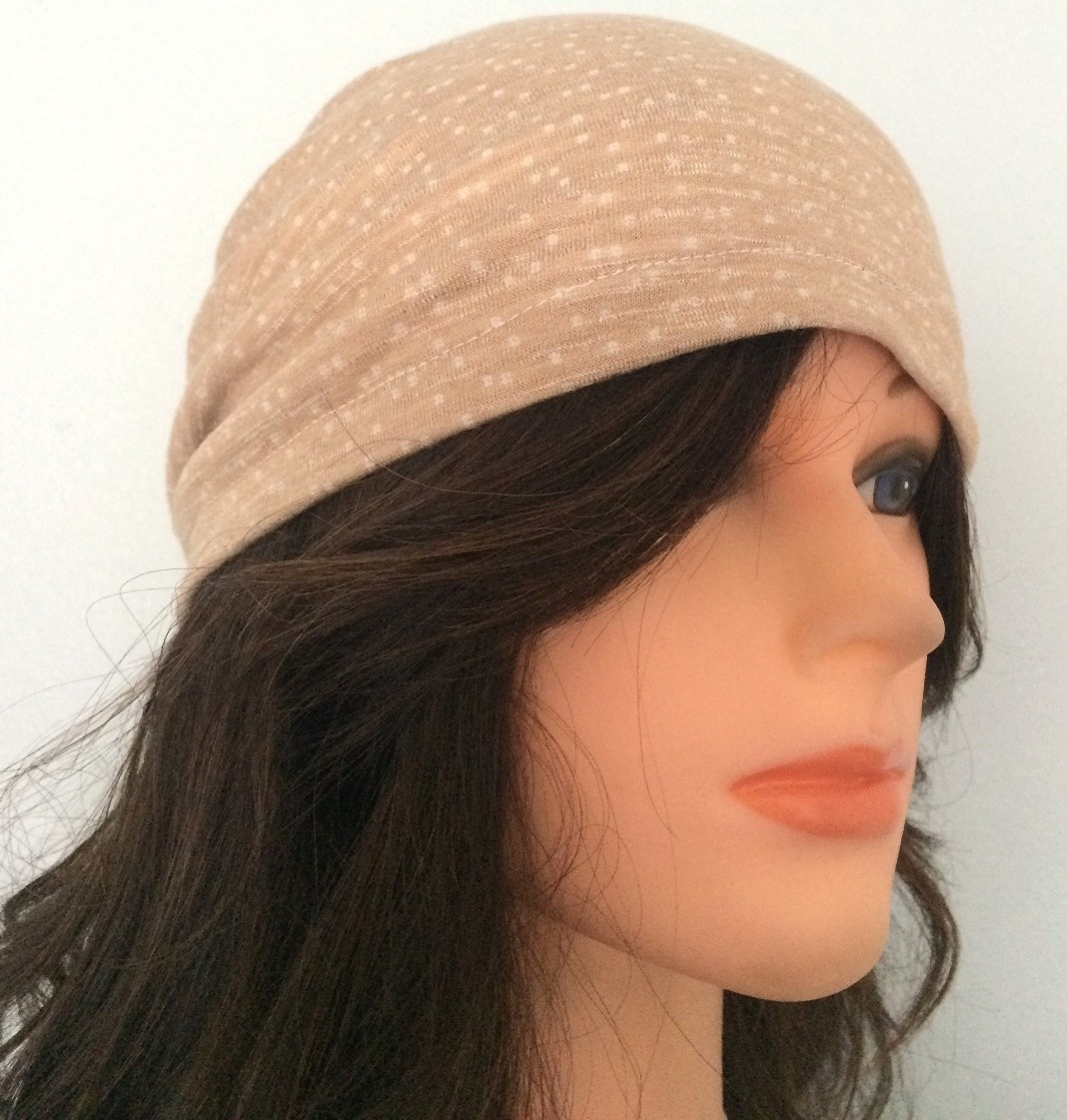 Beige dotted pattern summer slouchy