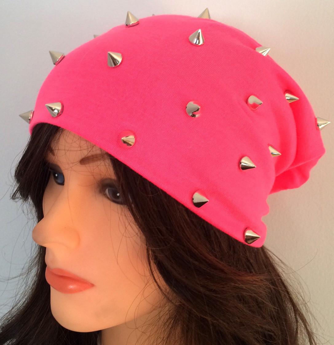 Pink summer spiky beanie