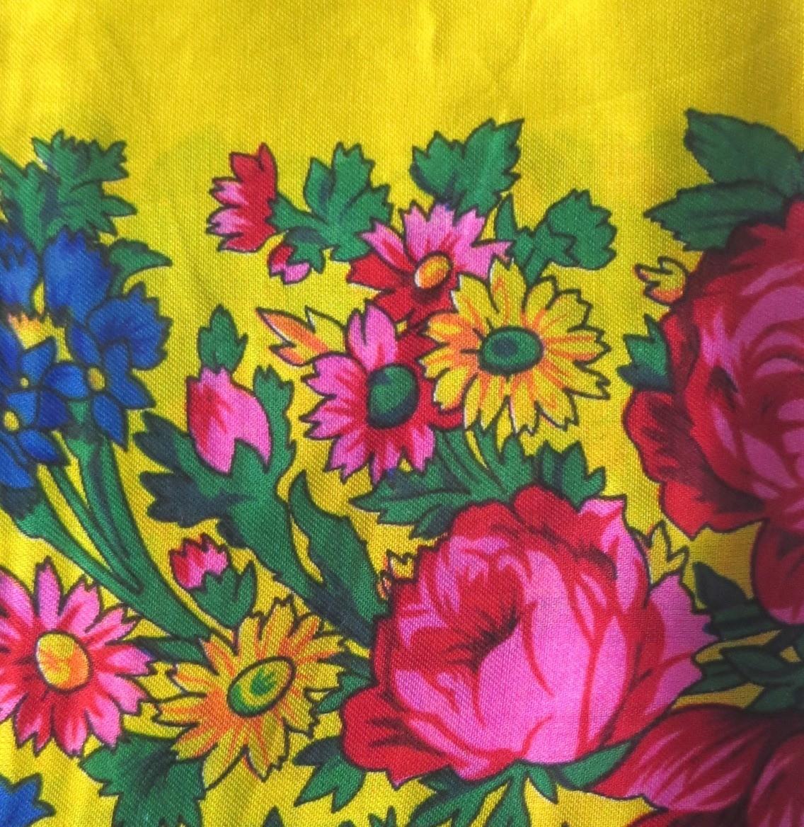 Yellow vintage tichel