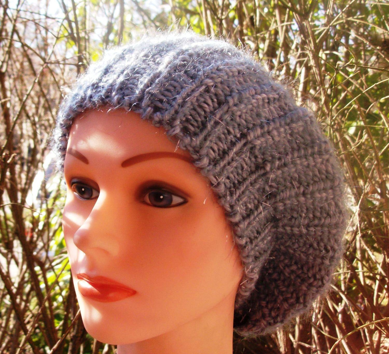 Shimmer beret gray