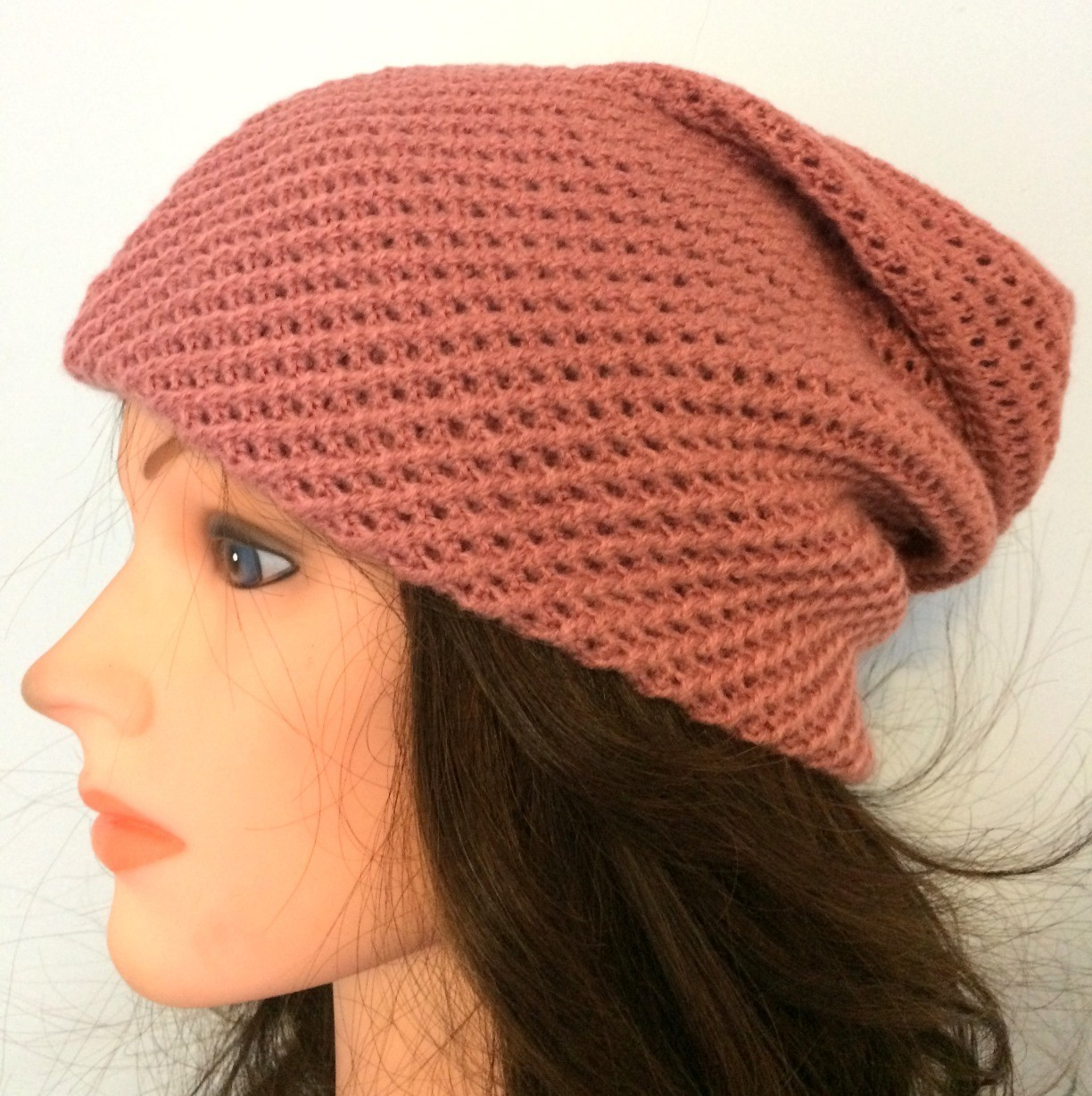Dusty pink slouchy hat/beret