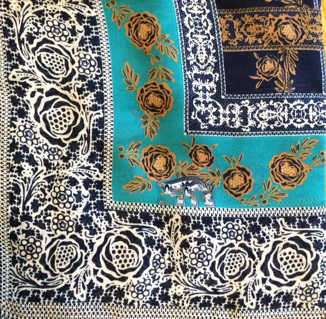 Shades of blue stylish Turkish headscarve