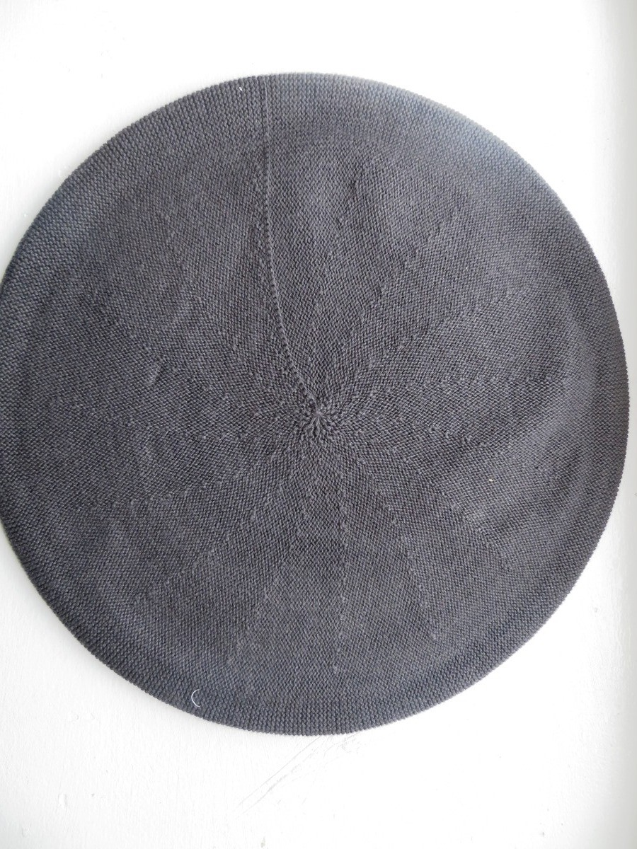 Cotton Beret gray extra large