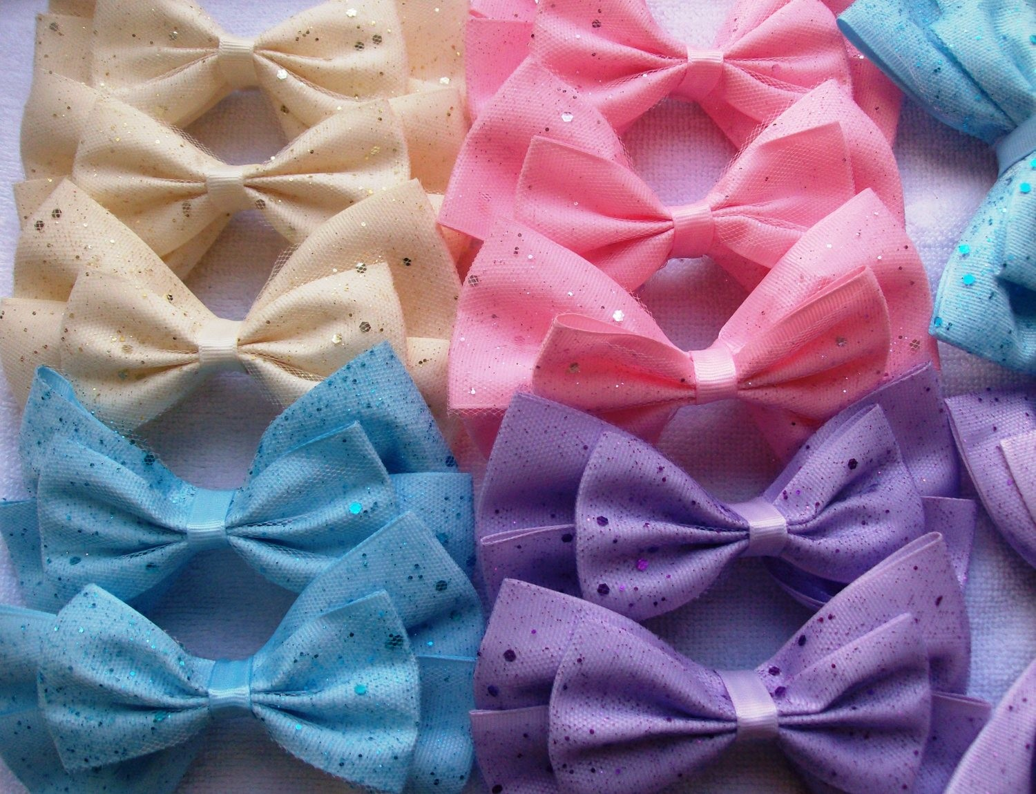 speckled bows
