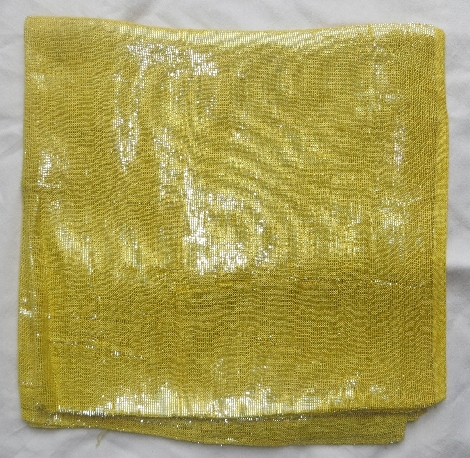 Yellow solid color shimmering tichel