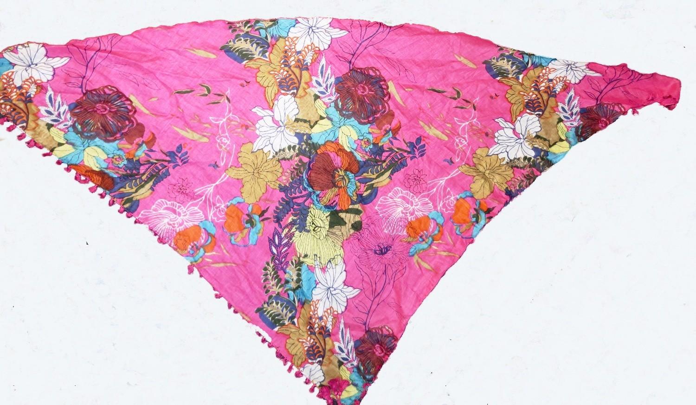 Hot pink tichel bandana