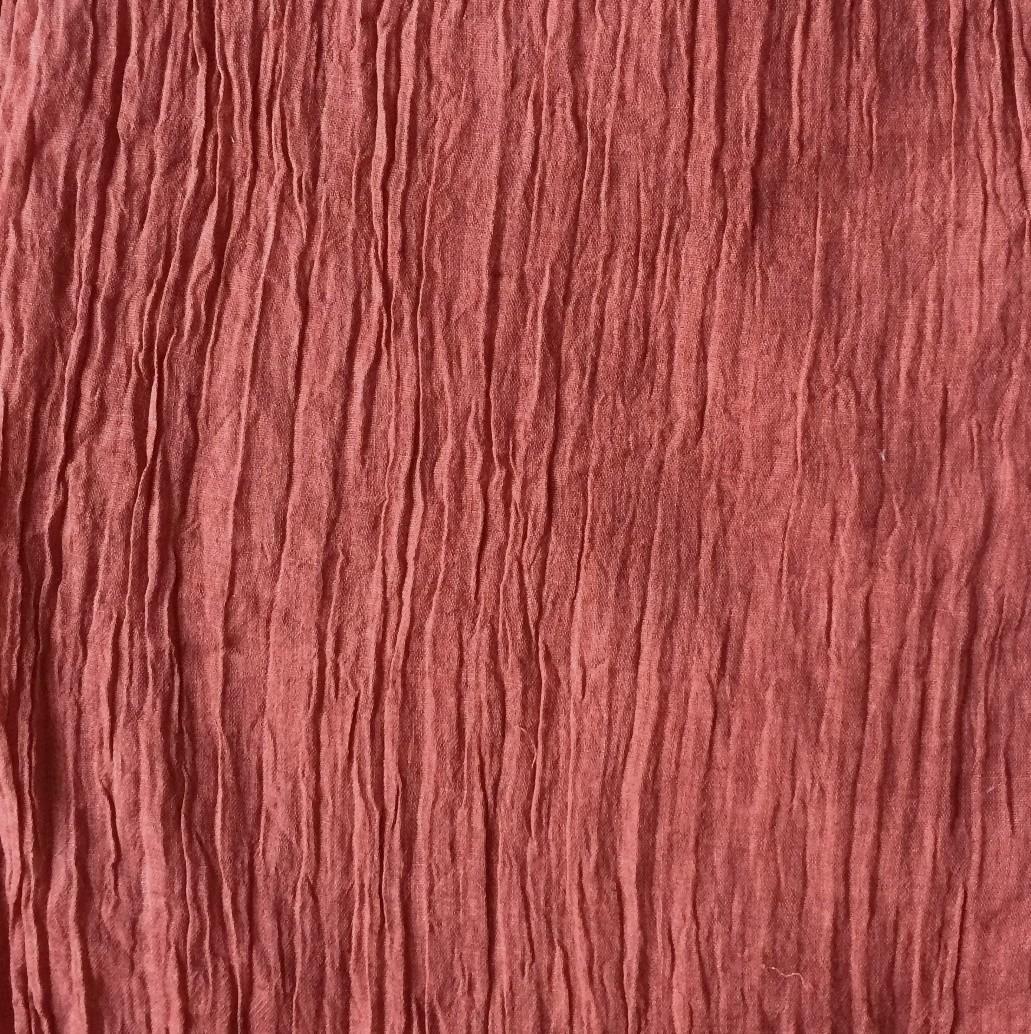 Brick red solid color tichel