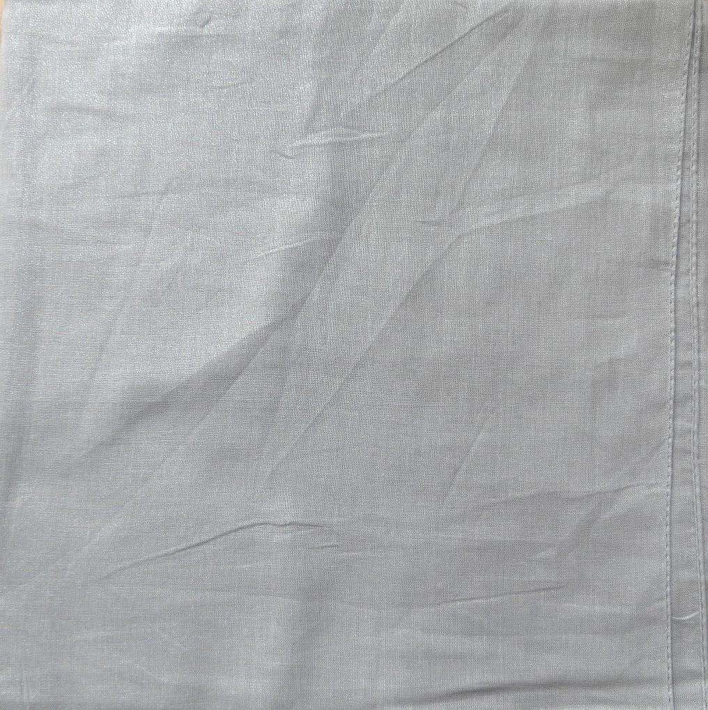 Light gray solid color sheen tichel