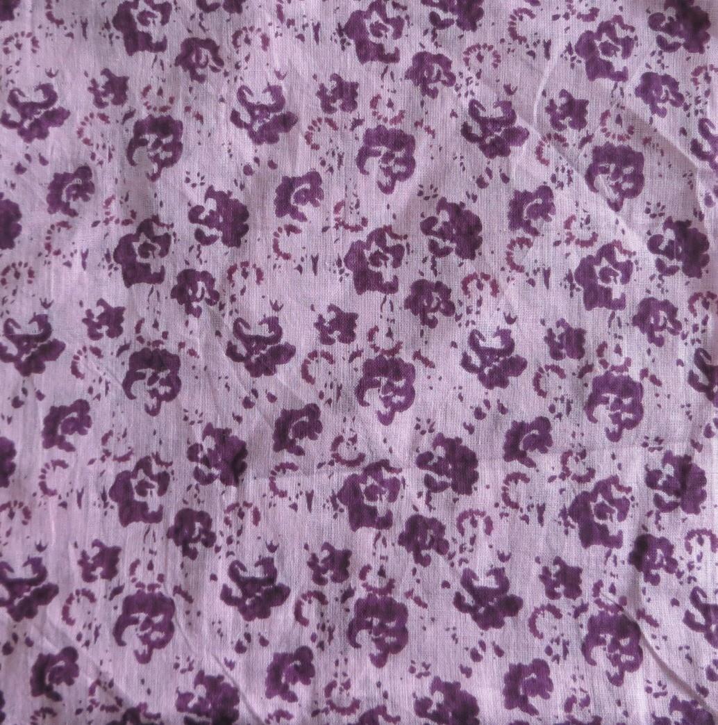 Purple & lavender splatter print tichel
