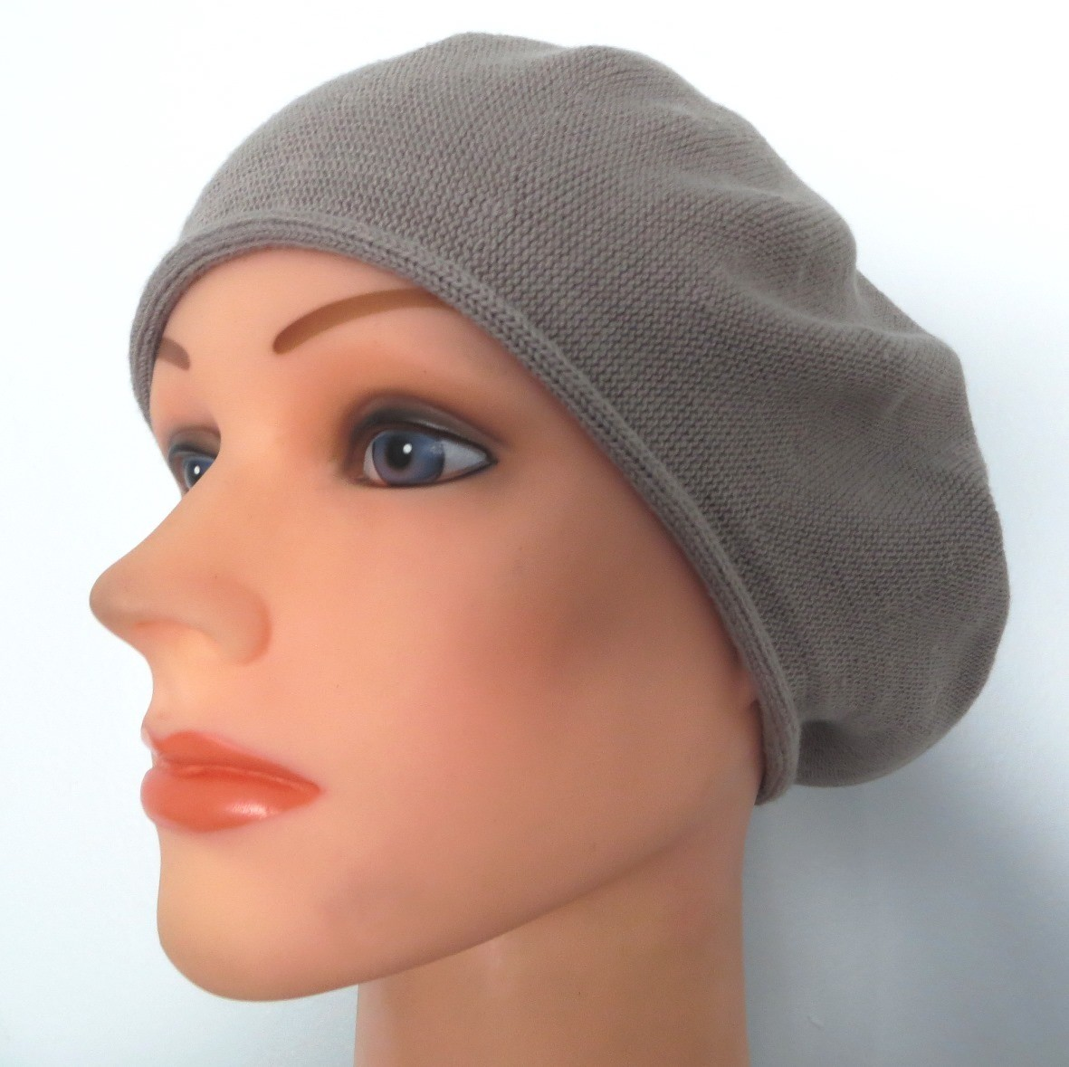 Cotton beret light gray