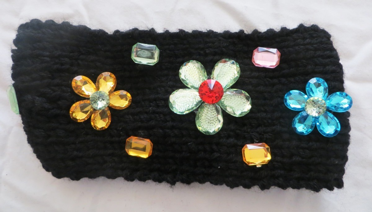 Black jeweled head wrap