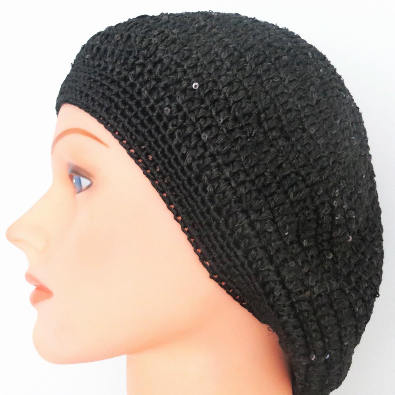 Black mini sequins snood