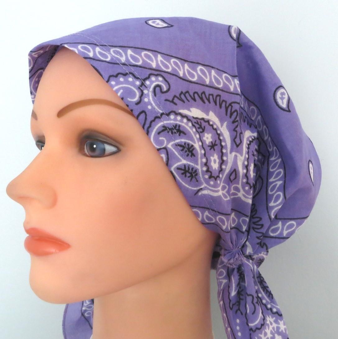 Lavender pre-tied bandana