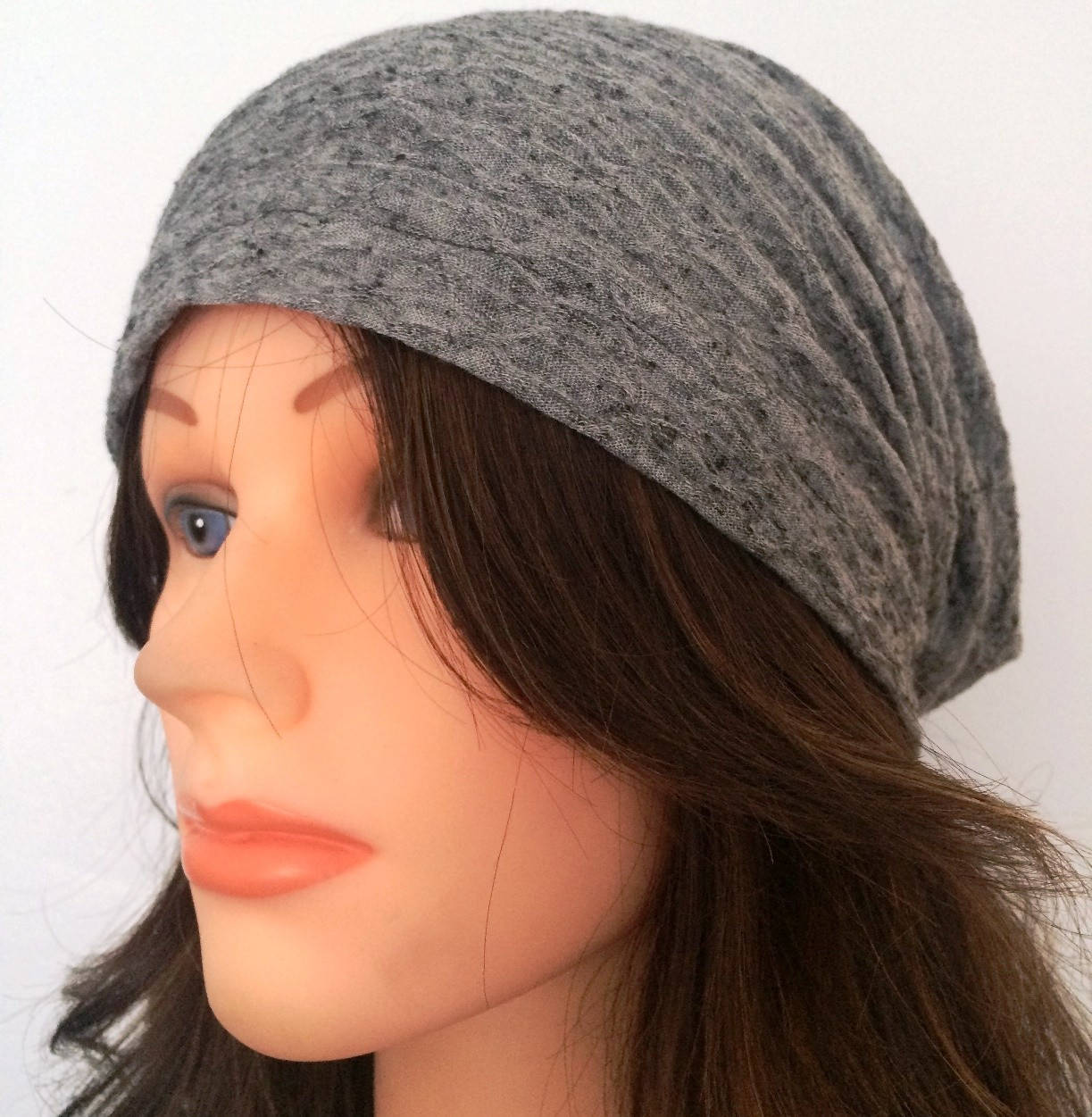 Dark gray spring/fall slouch textured pattern.