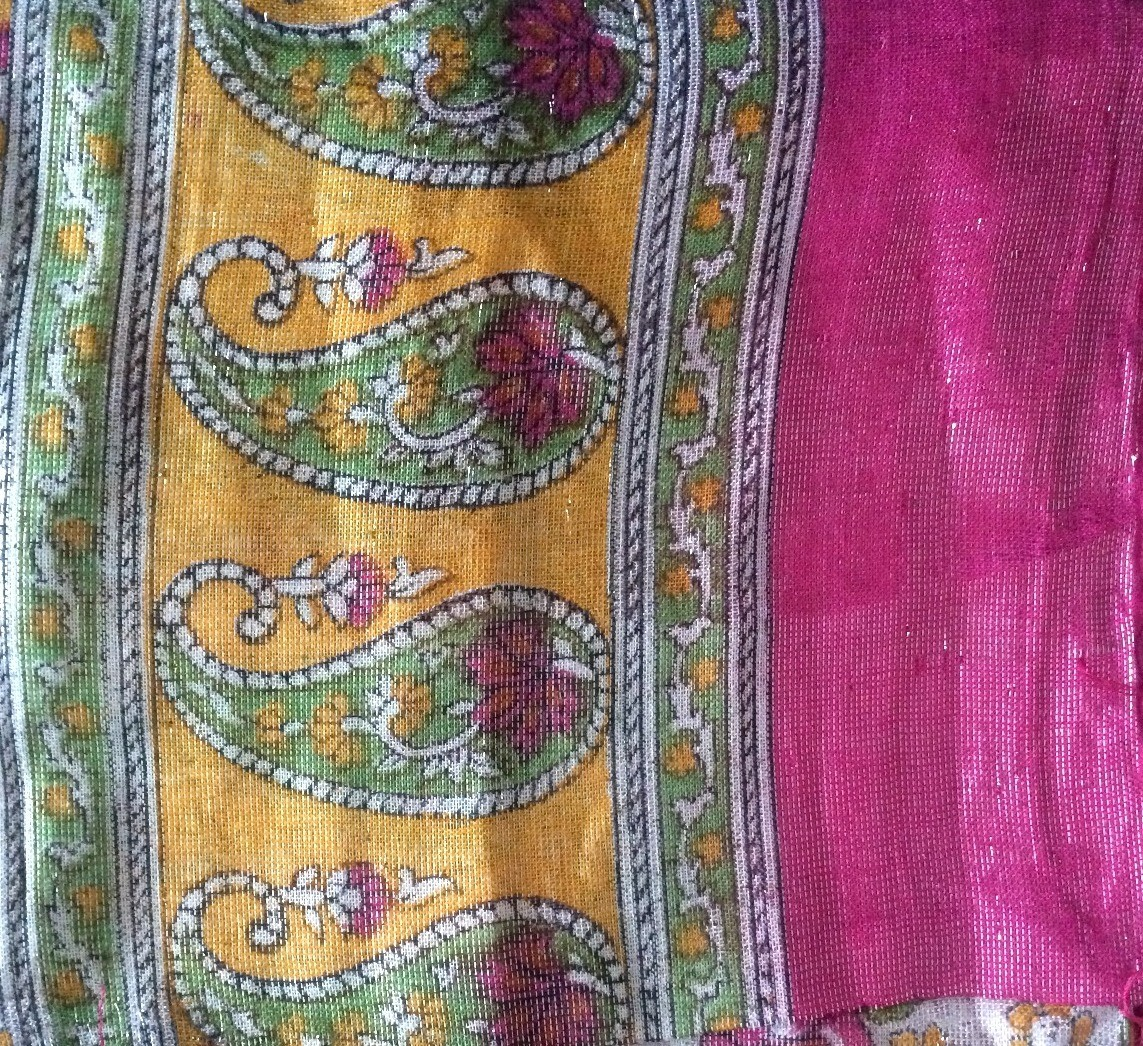Deep pink shimmer headscarve tichel
