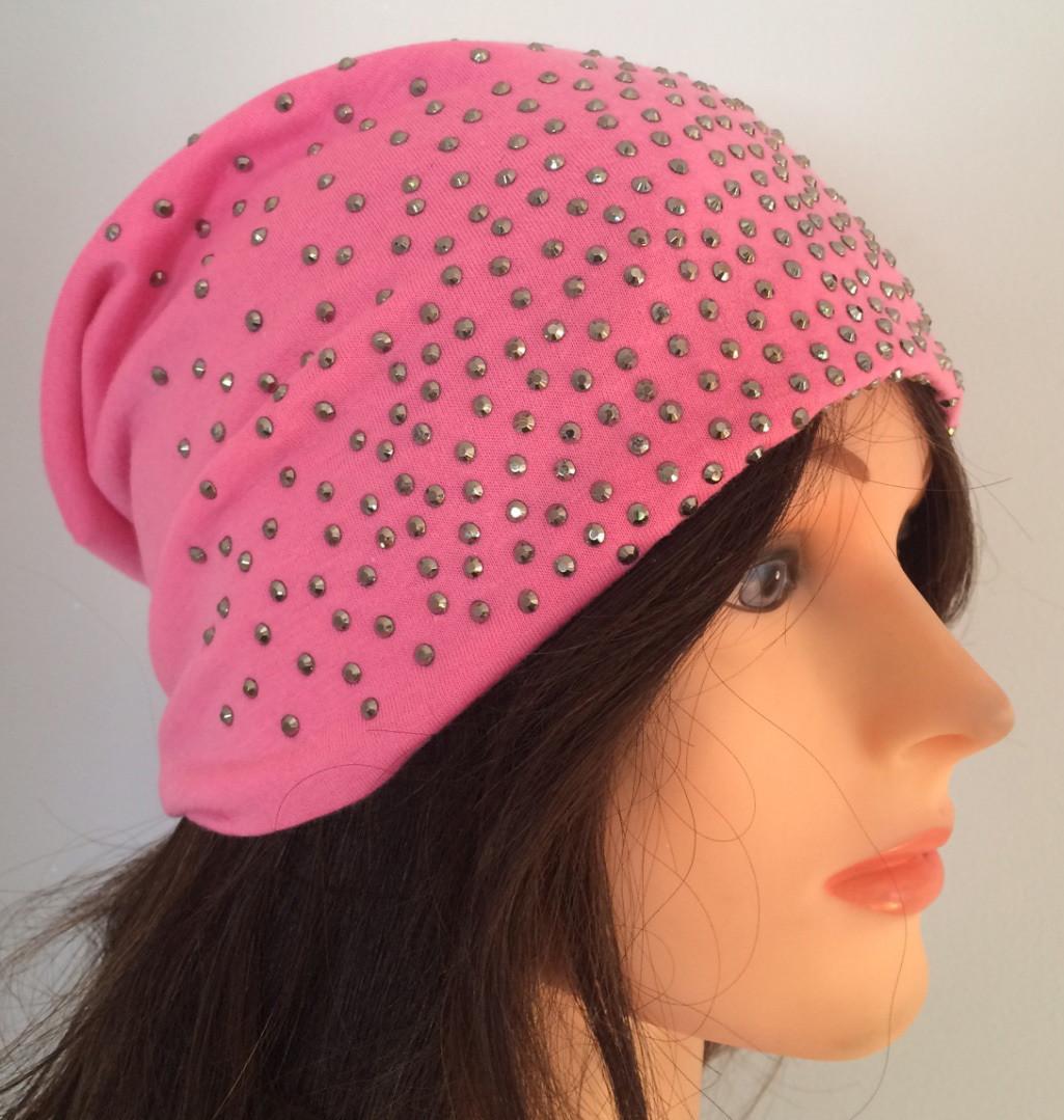 Pink summer sparkle beanie