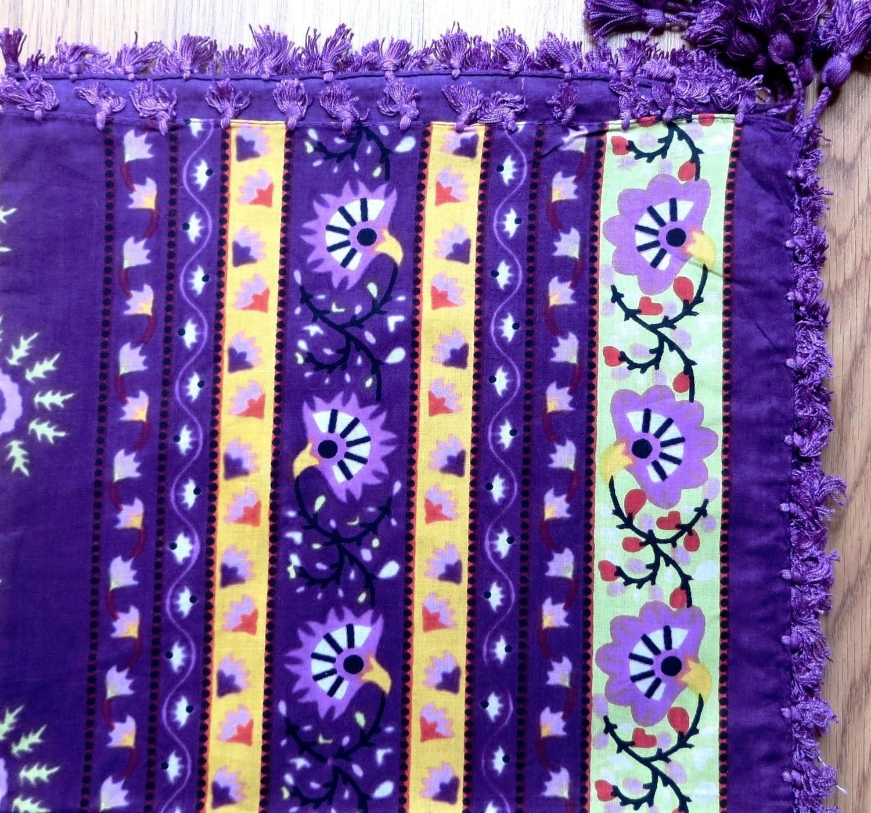 Purple split extra fancy tichel
