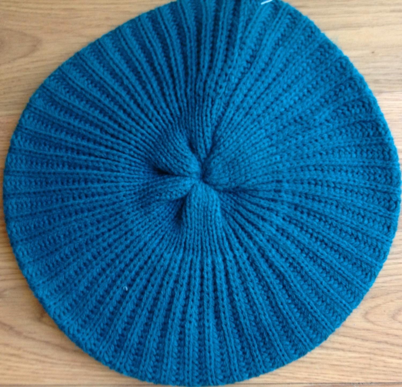 Plain beret  torquoise