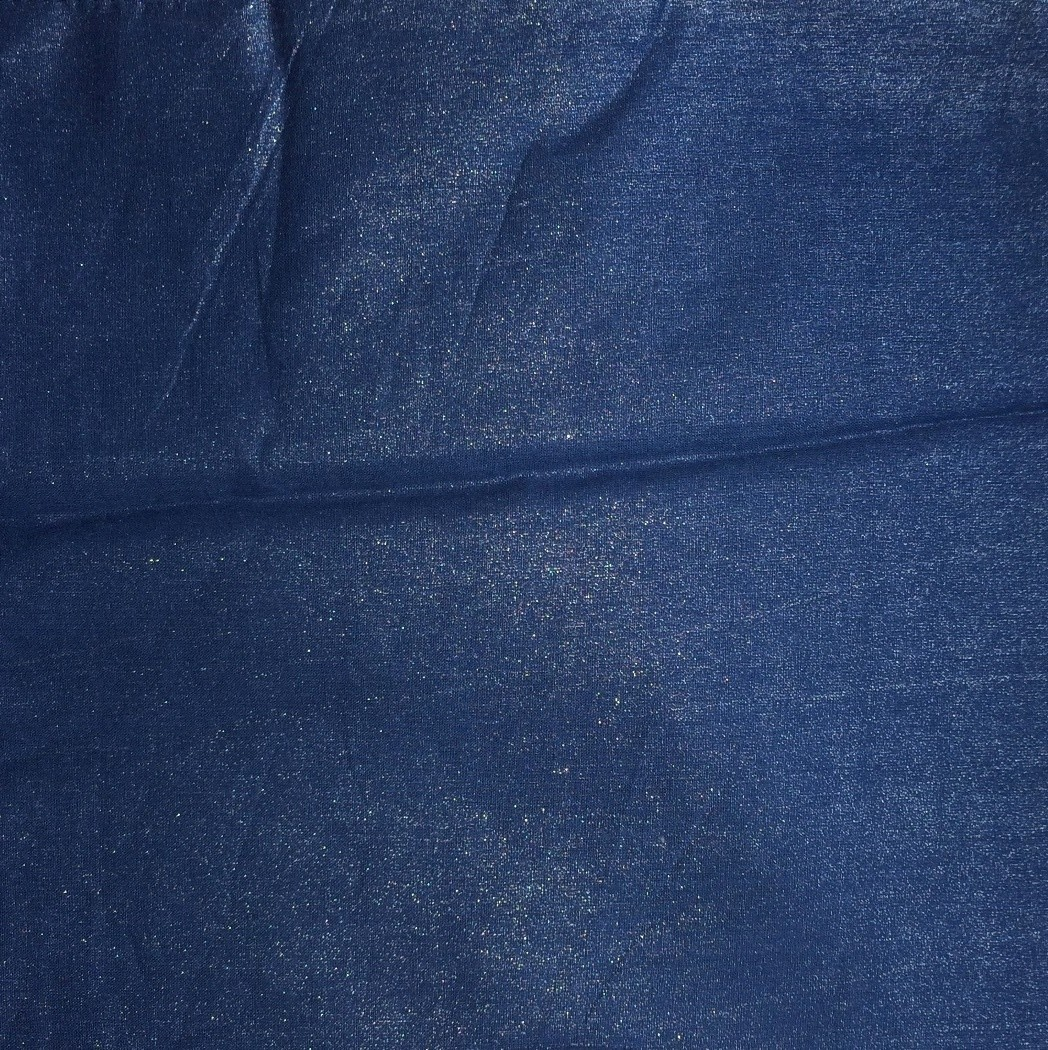 Denim blue solid color sheen tichel