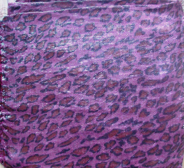 Dark pink shimmering animal print tichel