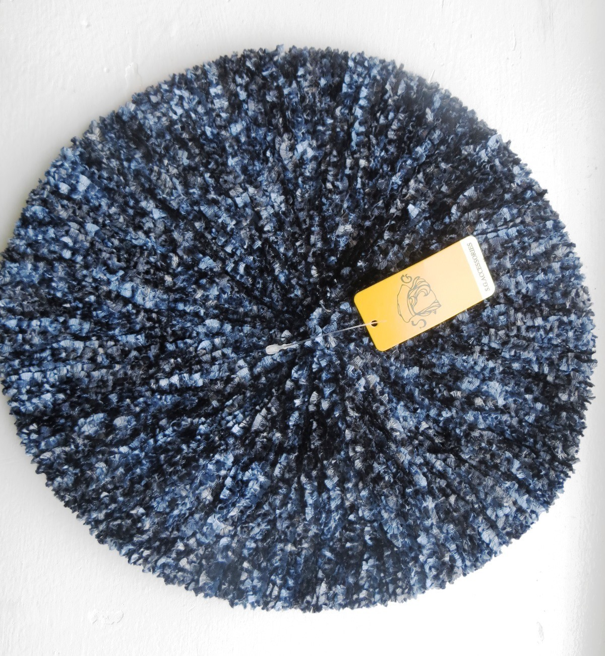 Blue two toned chenille snood