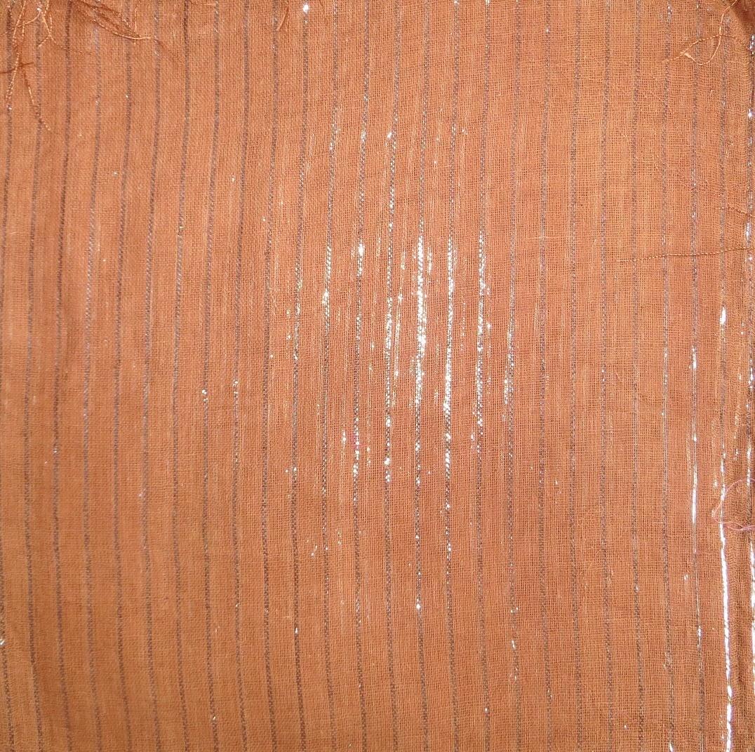 Burnt orange lurex tichel