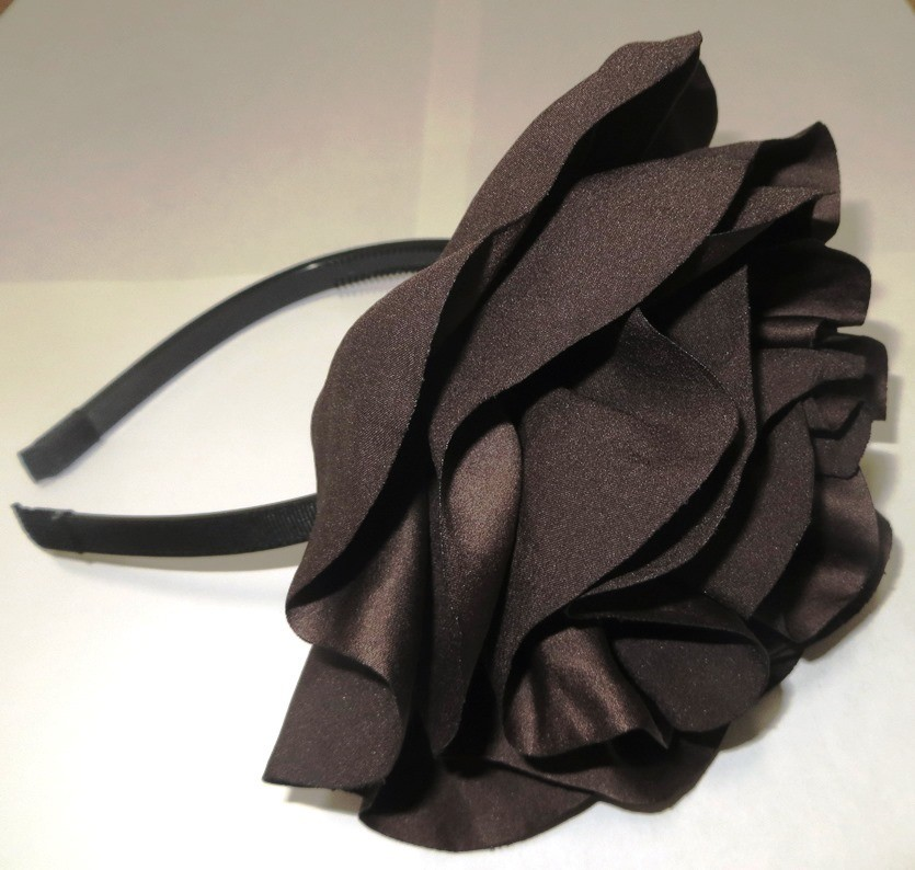 Brown extra large flower headband