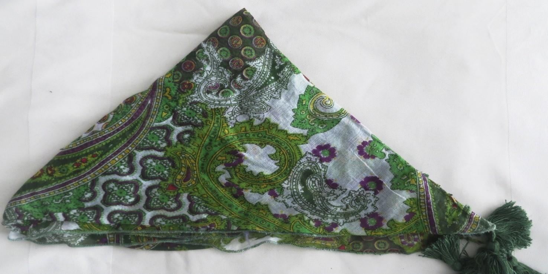 Green paisley pattern bandana