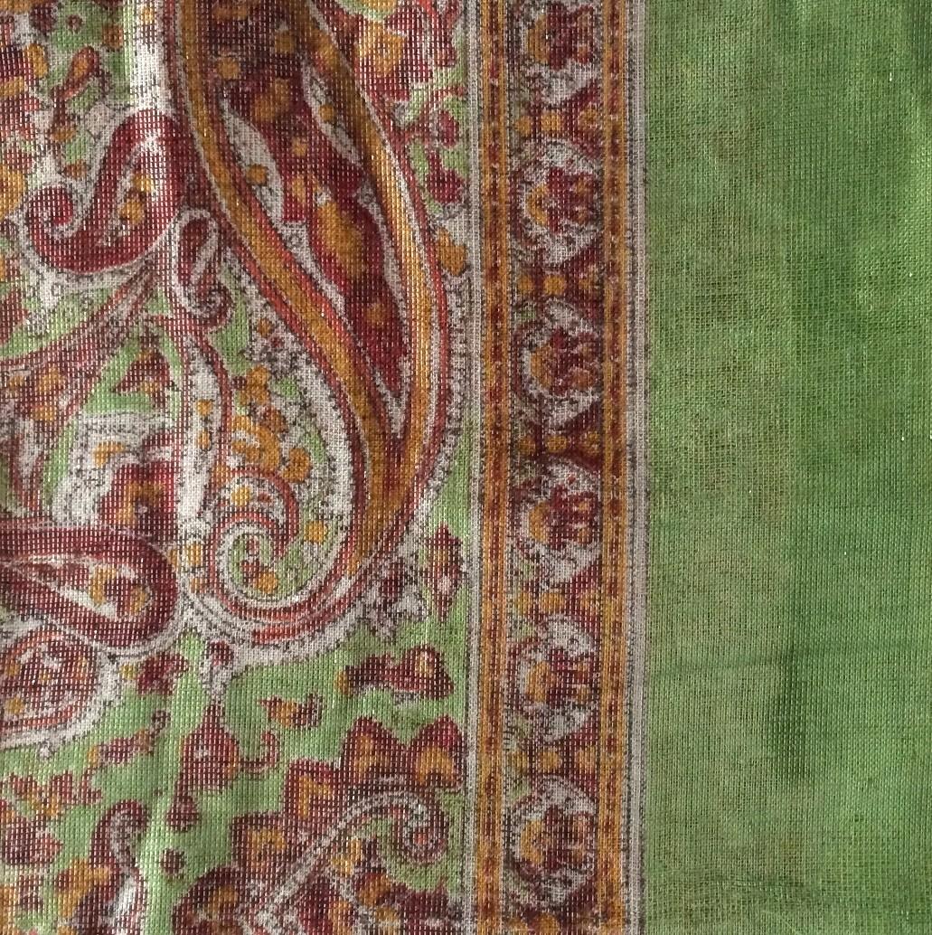 Medium green  shimmering head scarve