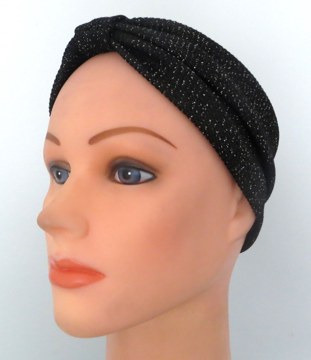 Black sparkly soft headband