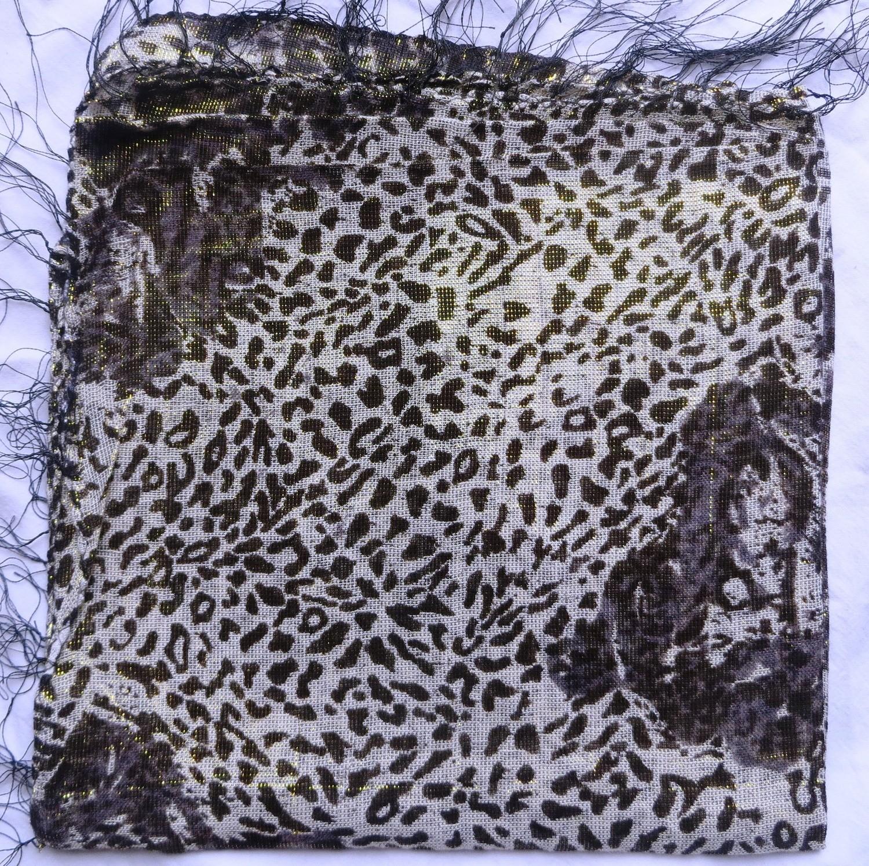 Jaguarr spotted animal print shimmer tichel