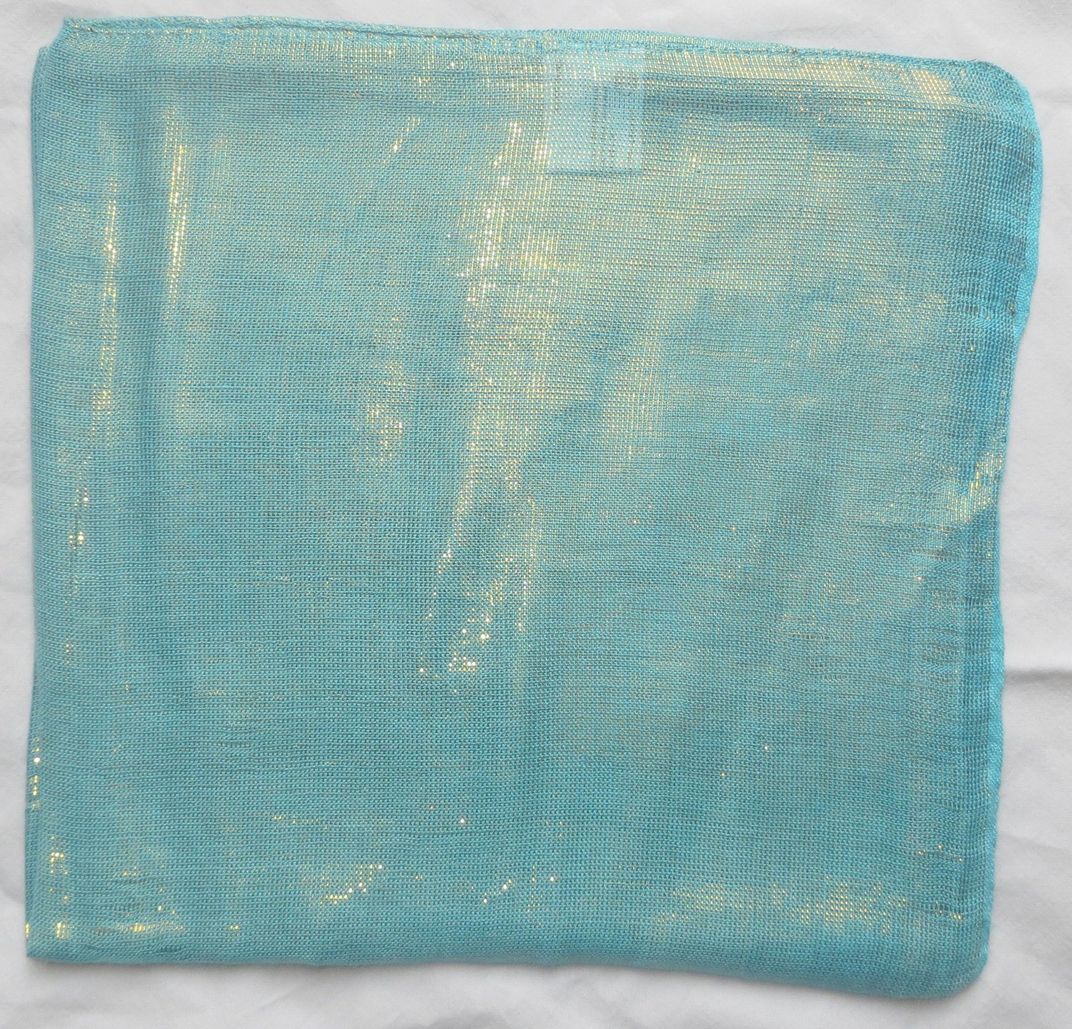 Beach blue solid color shimmering tichel