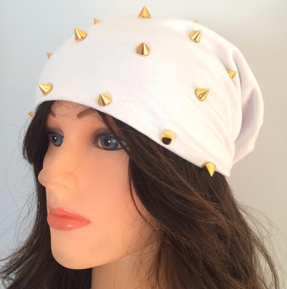 White summer spiky beanie