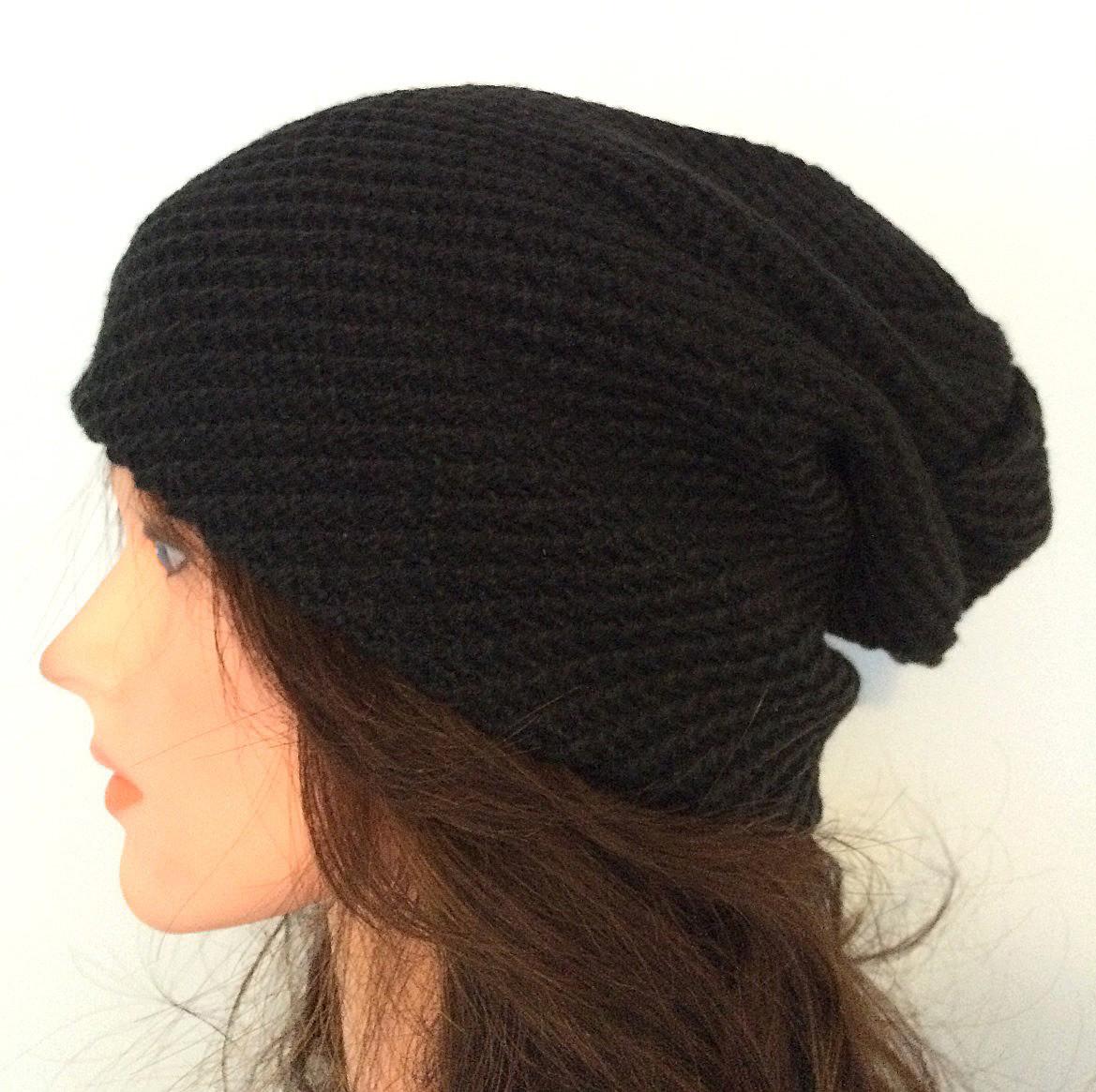 Black slouchy hat/beret