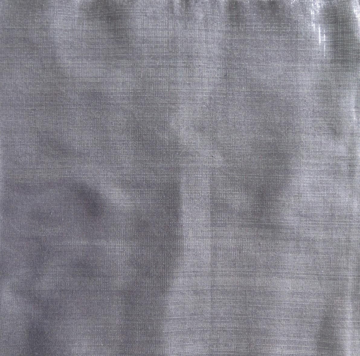 Shimmering solid tichel medium gray