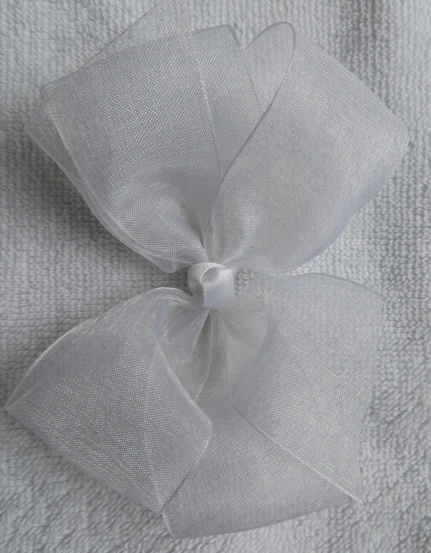 White small organza bow