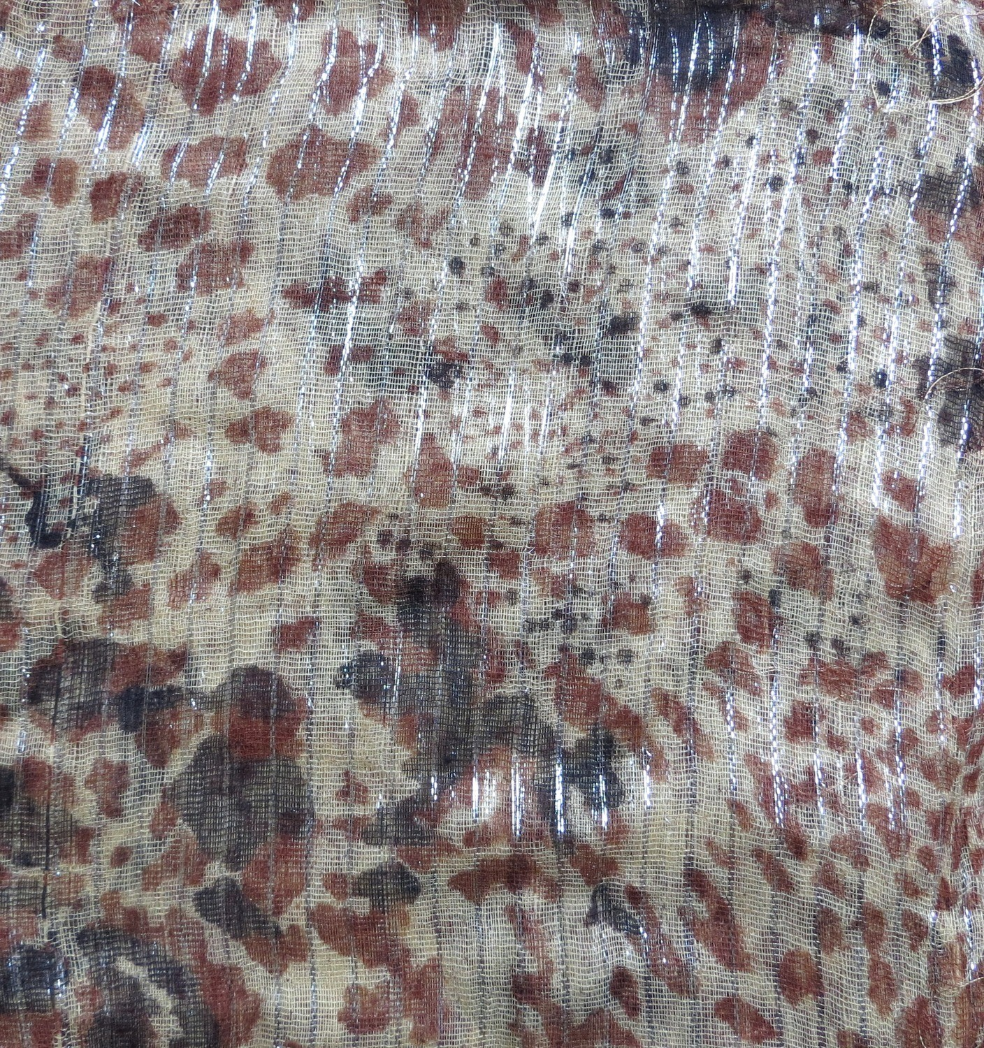 Beige with black and brown spots animal print tichel