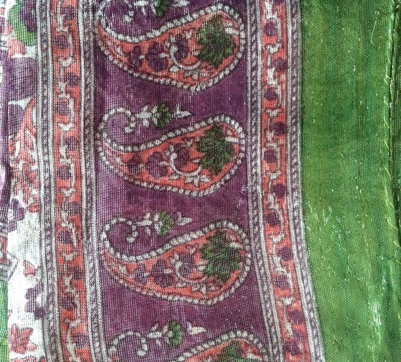 Green shimmer headscarve tichel