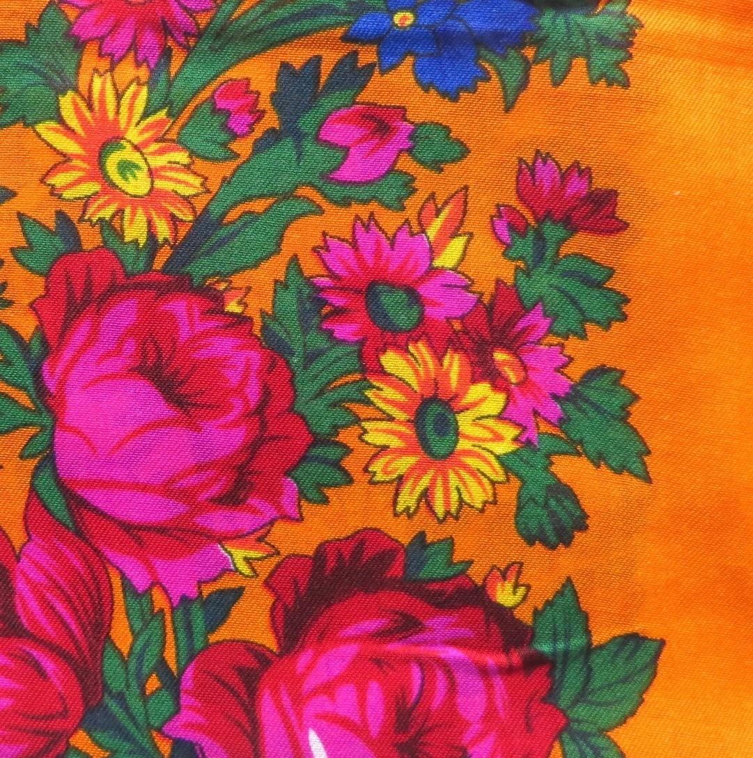 Orange vintage tichel