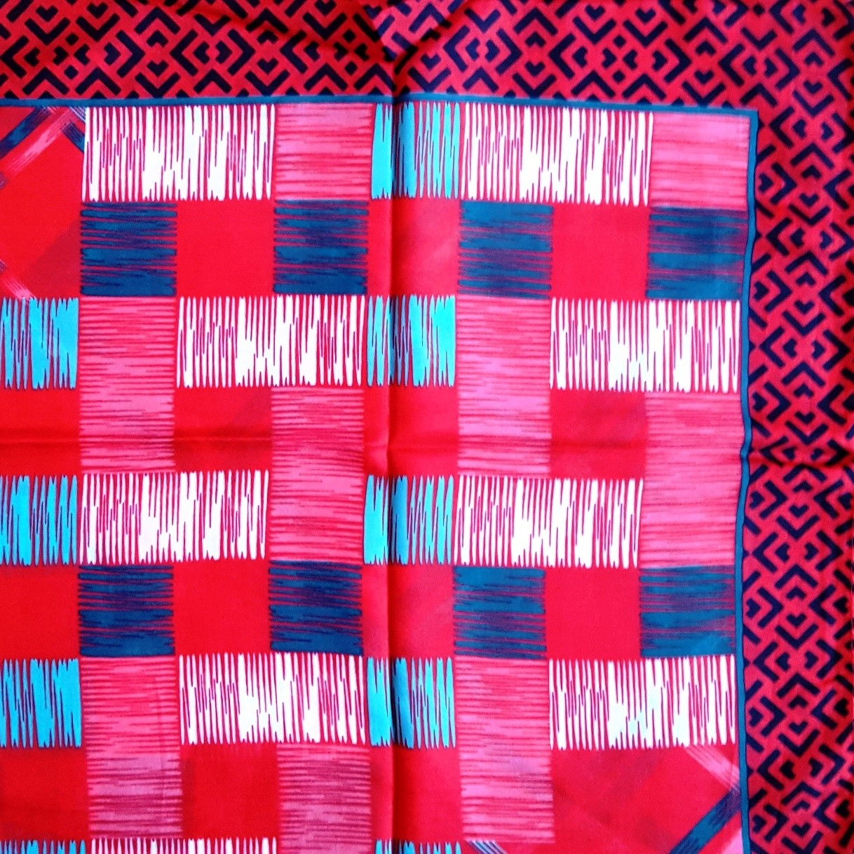 Watermelon colored modern design  Turkish head scarve