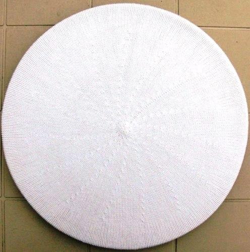 Cotton beret white large