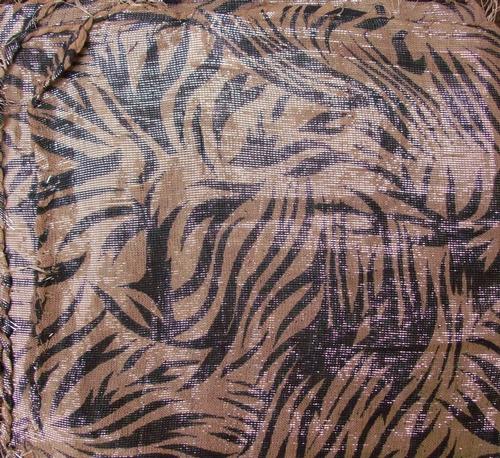 Camel shimmering animal print tichel