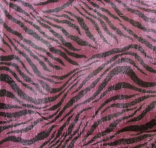 Deep pink shimmering animal print tichel